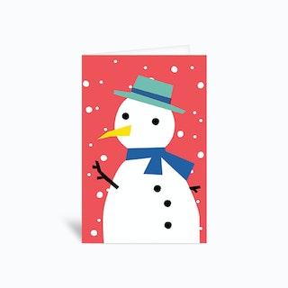 Fancy Snowman Greetings Card