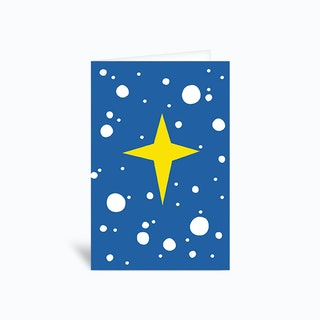 Holiday Star Greetings Card