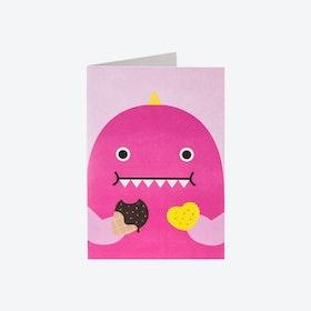 Greeting Card - Ricedino Pink (set of 3)