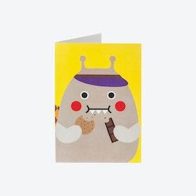 Greeting Card - Snail Nom Nom (set of 3)