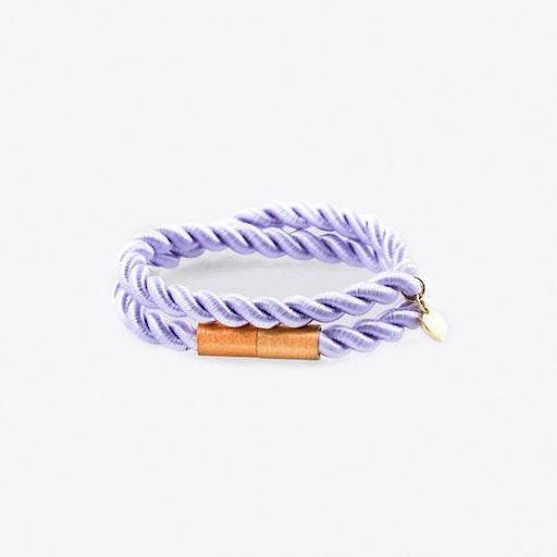 Shiny Ribbon Bracelet in Lavender