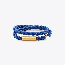 Shiny Ribbon Bracelet in Petrol Blue