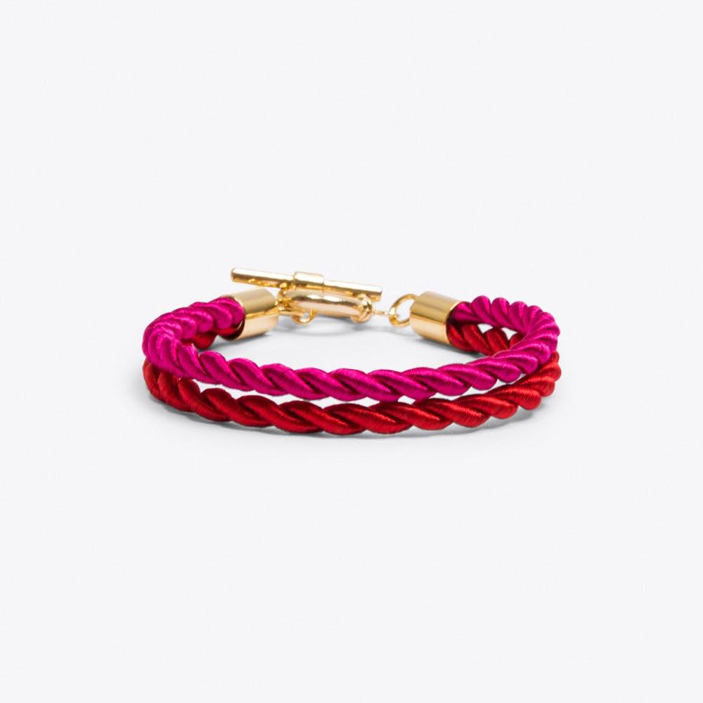 Unchained Bracelet in Raspberry