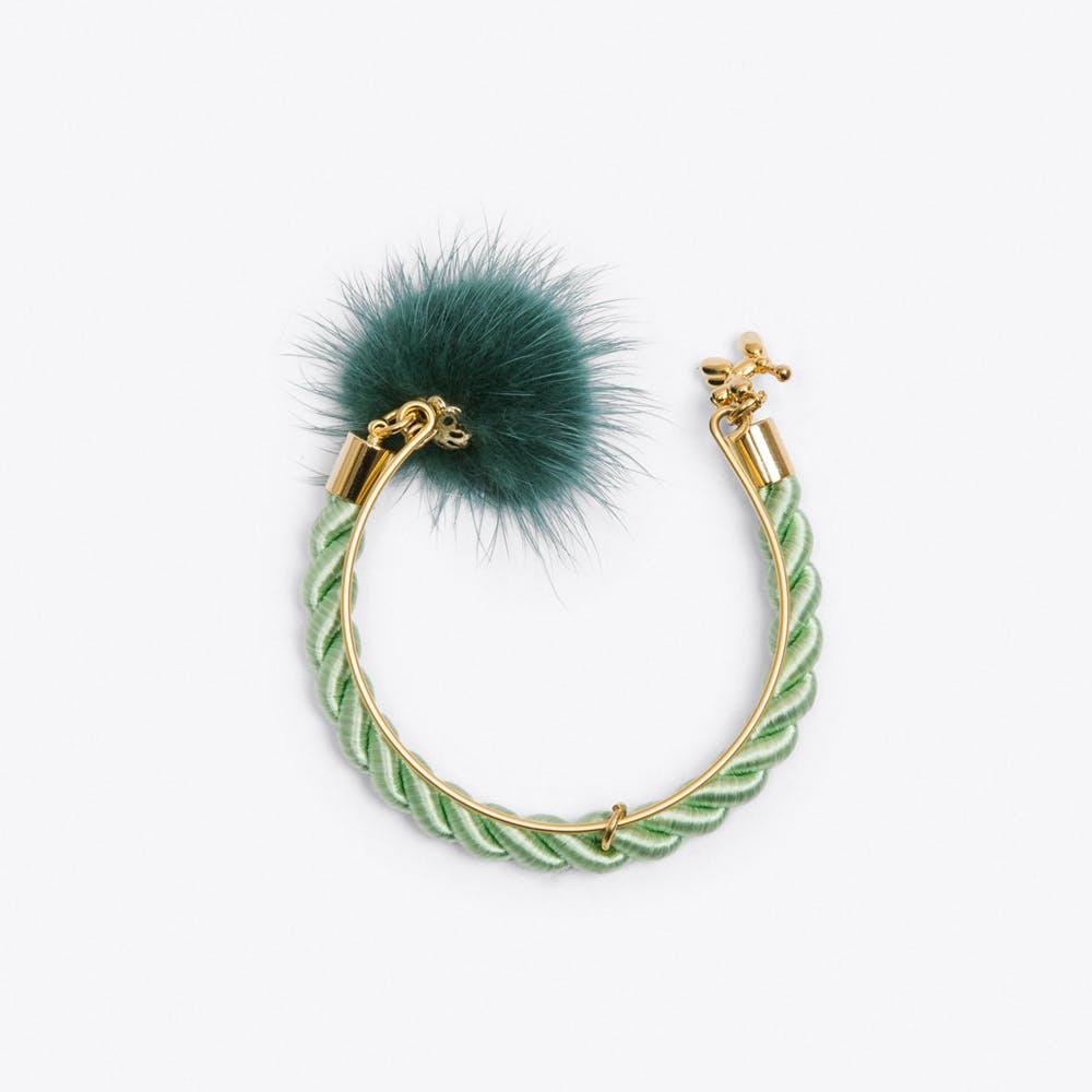 Limited Edition PomPom Bracelet in Mint