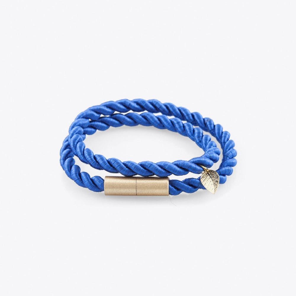 Shiny Ribbon Bracelet in Royal Blue