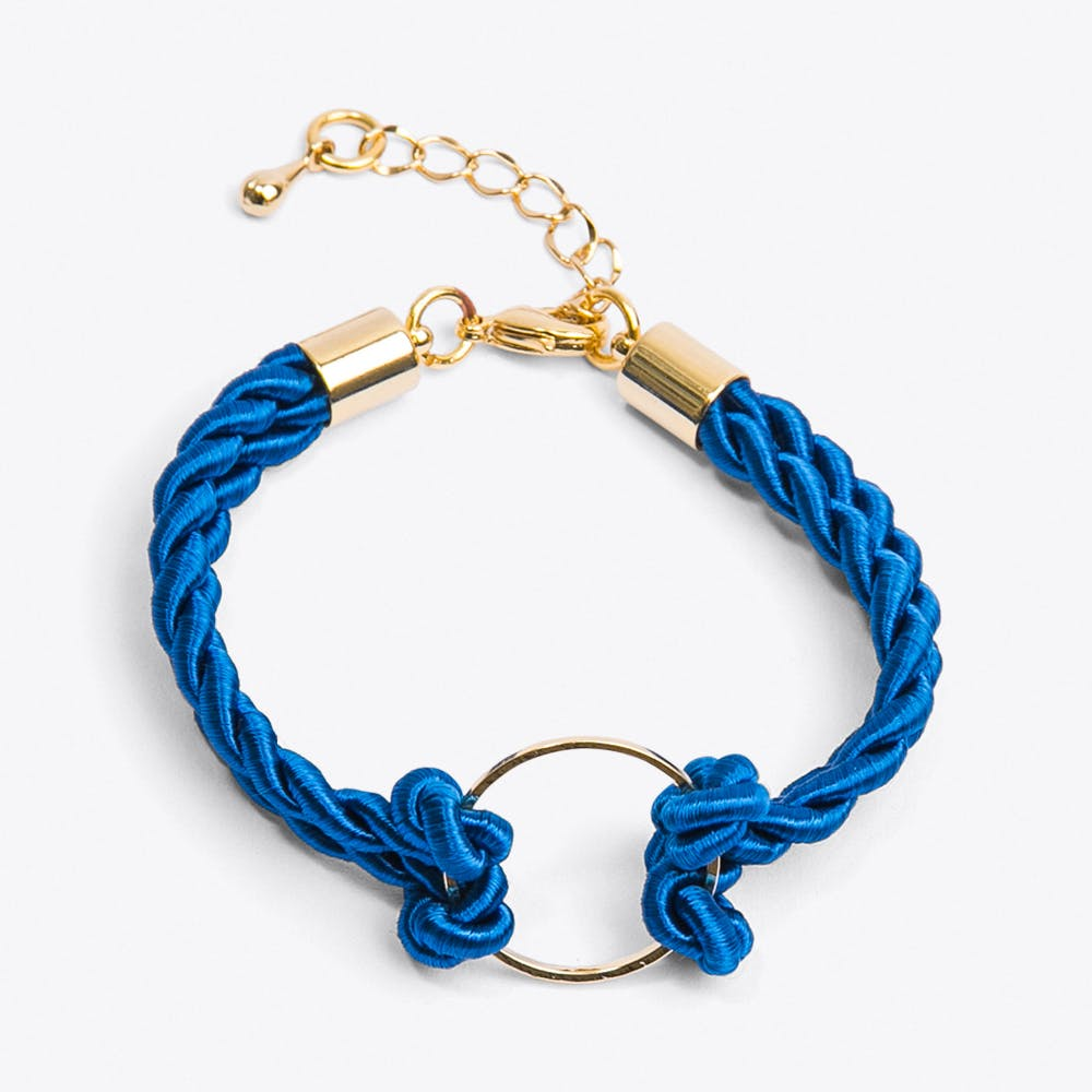 Golden Circle Bracelet in Royal Blue