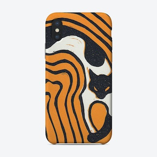 Sprawling Cat Color Phone Case