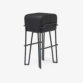 BOKK Bar Stool in Black Leather
