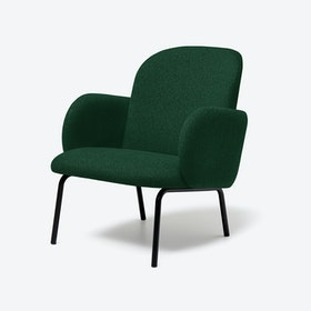 DOST Lounge Chair in Dark Green