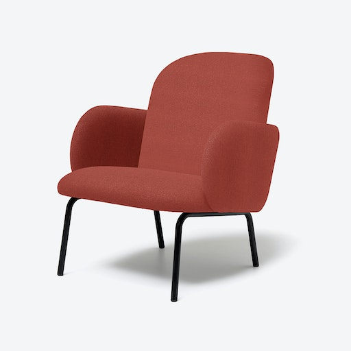 DOST Lounge Chair in Terracotta