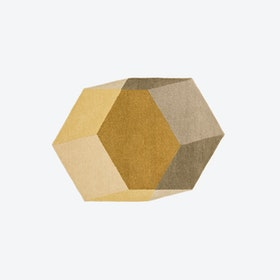 Hexagon ISO Rug in Yellow