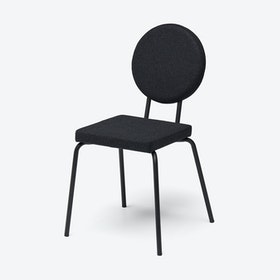 Square Seat and Round Back OPTION Chair in Black