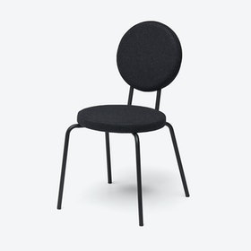 Round Seat and Back OPTION Chair in Black