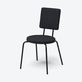 Round Seat and Square Back OPTION Chair in Black