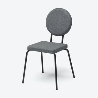 Square Seat and Round Back OPTION Chair in Grey