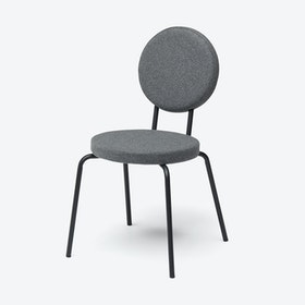 Round Seat and Back OPTION Chair in Grey