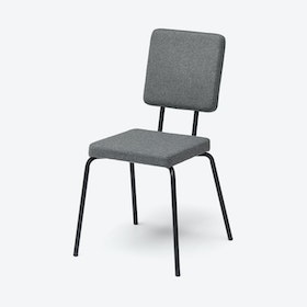 Square Seat and Back OPTION Chair in Grey