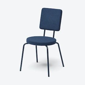 Round Seat and Square Back OPTION Chair in Dark Blue