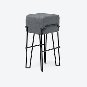 BOKK Bar Stool in Light Grey