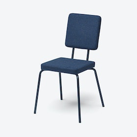 Square Seat and Back OPTION Chair in Dark Blue