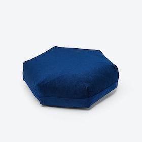 Hexagon PLUS Cushion in Dark Blue