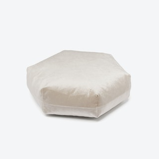 Hexagon PLUS Cushion in White