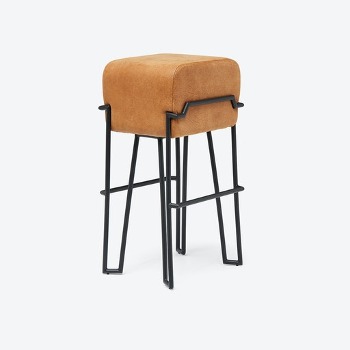 BOKK Bar Stool in Cognac Leather