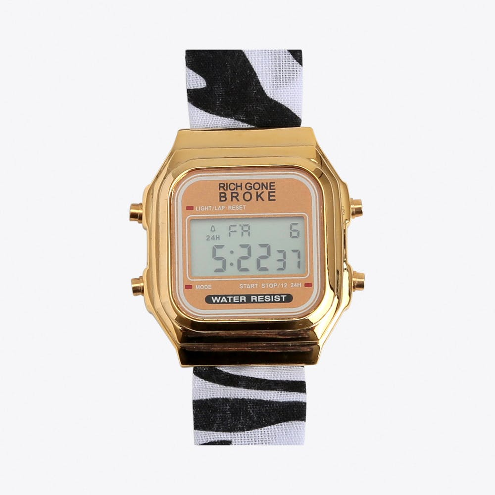 The Brazzaville Digital Watch in Gold