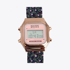 The Oslo Digital Watch in Rose Gold