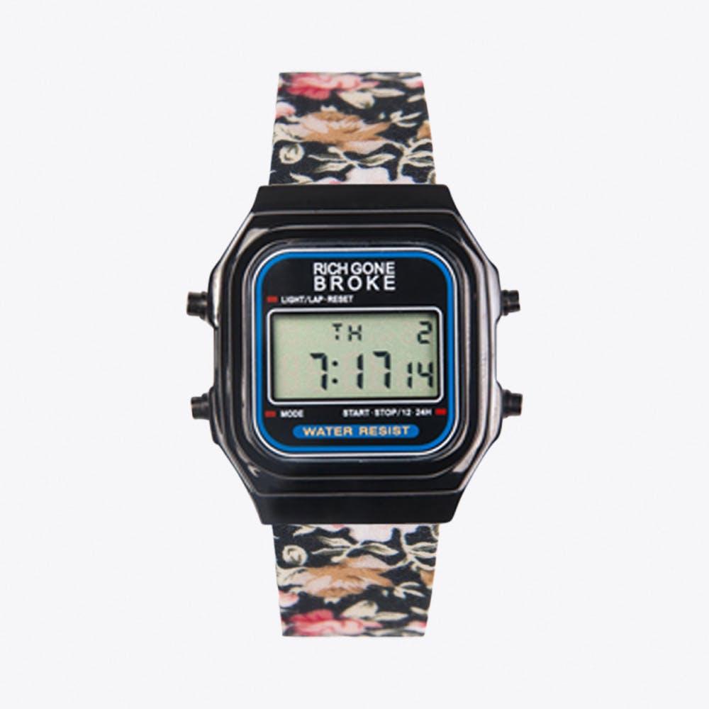 The Roma Digital Watch in Black