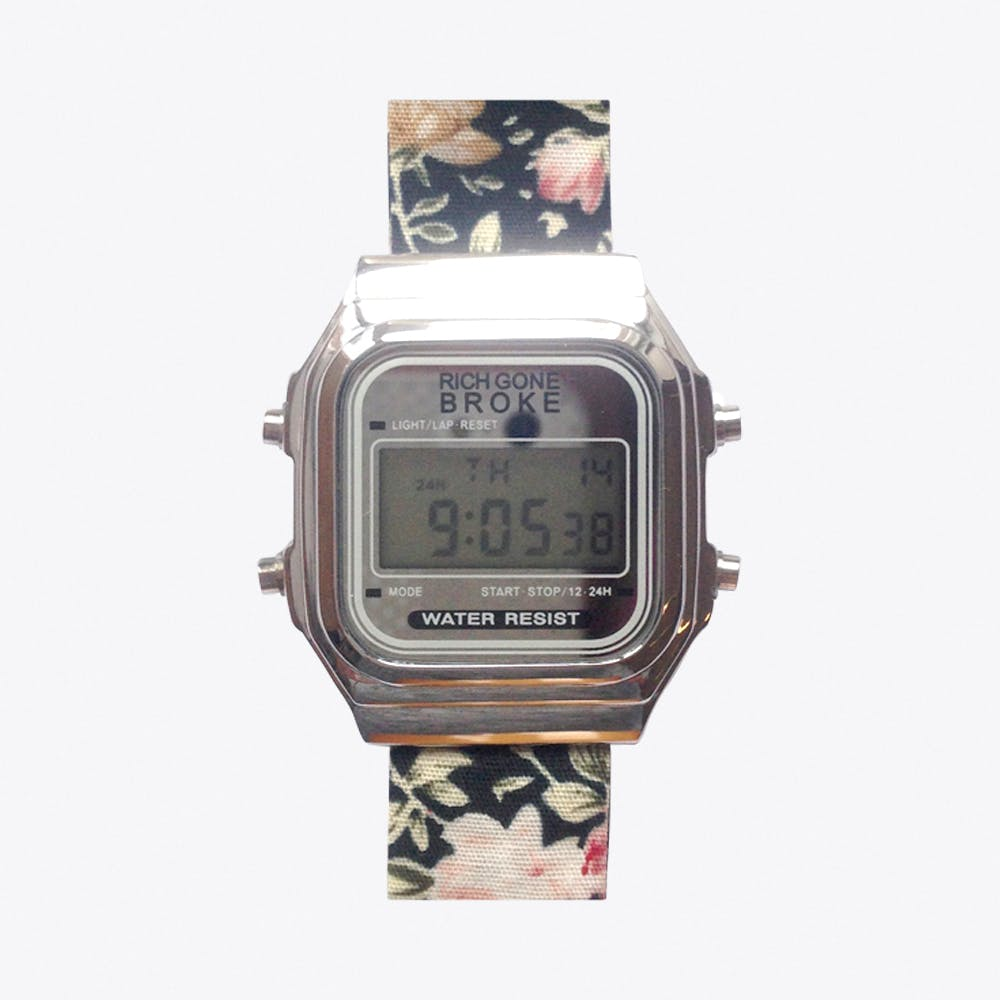 The Roma Digital Watch in Silver