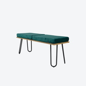 CORGI Bench in Turquoise/Black