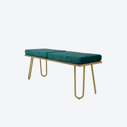CORGI Bench in Turquoise/Gold