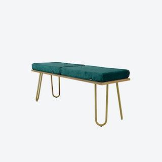 CORGI Bench in Turquoise/Gold