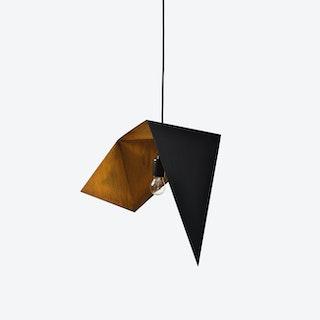 DUO BIRD I Pendant Light in Black Rust