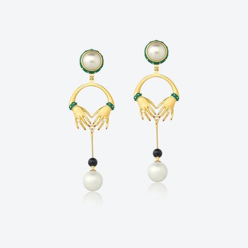JEANNE Earrings w/ Onyx Stone