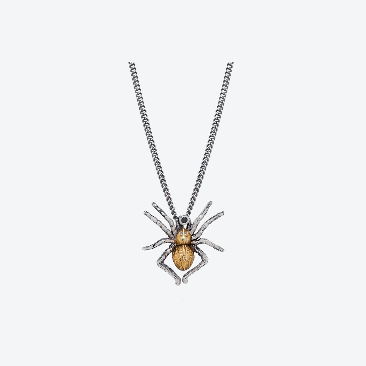 Gilded Spider Necklace