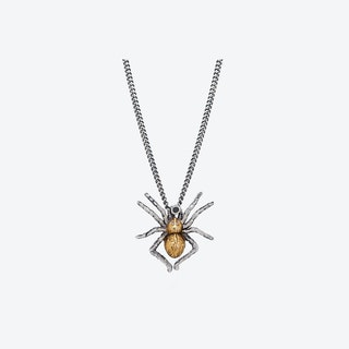 Gilded Spider Necklace