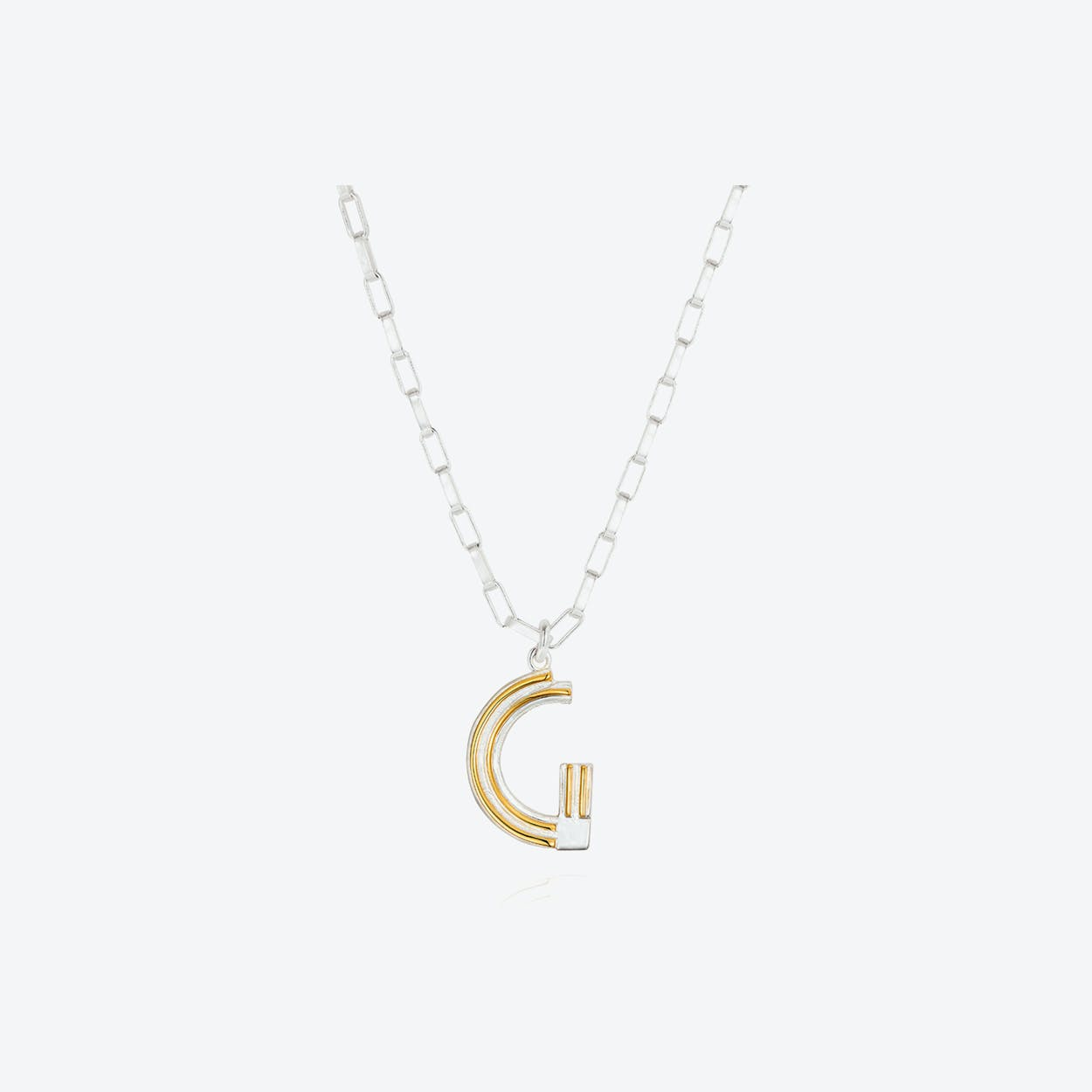 Saxony G Initial Necklace