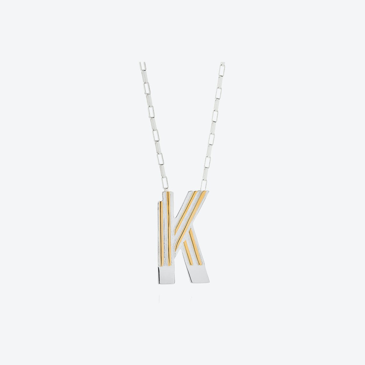 Saxony K Initial Necklace