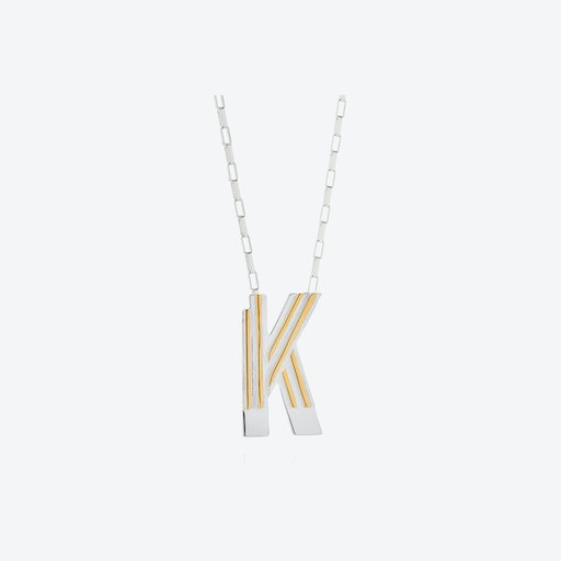 Saxony K Initial Necklace
