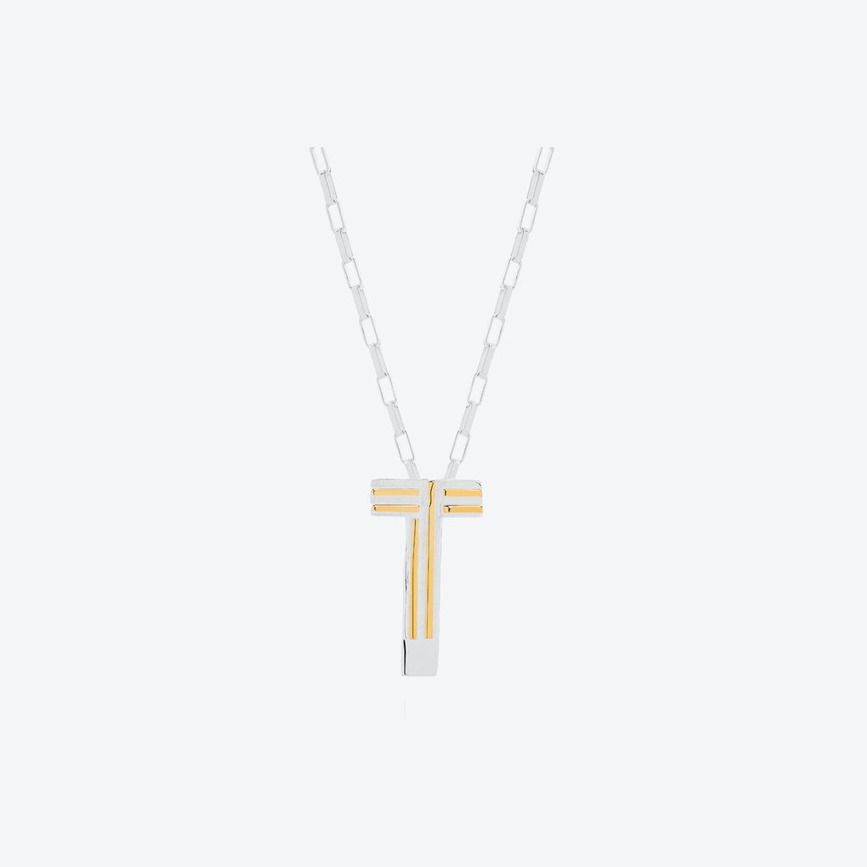 Saxony T Initial Necklace