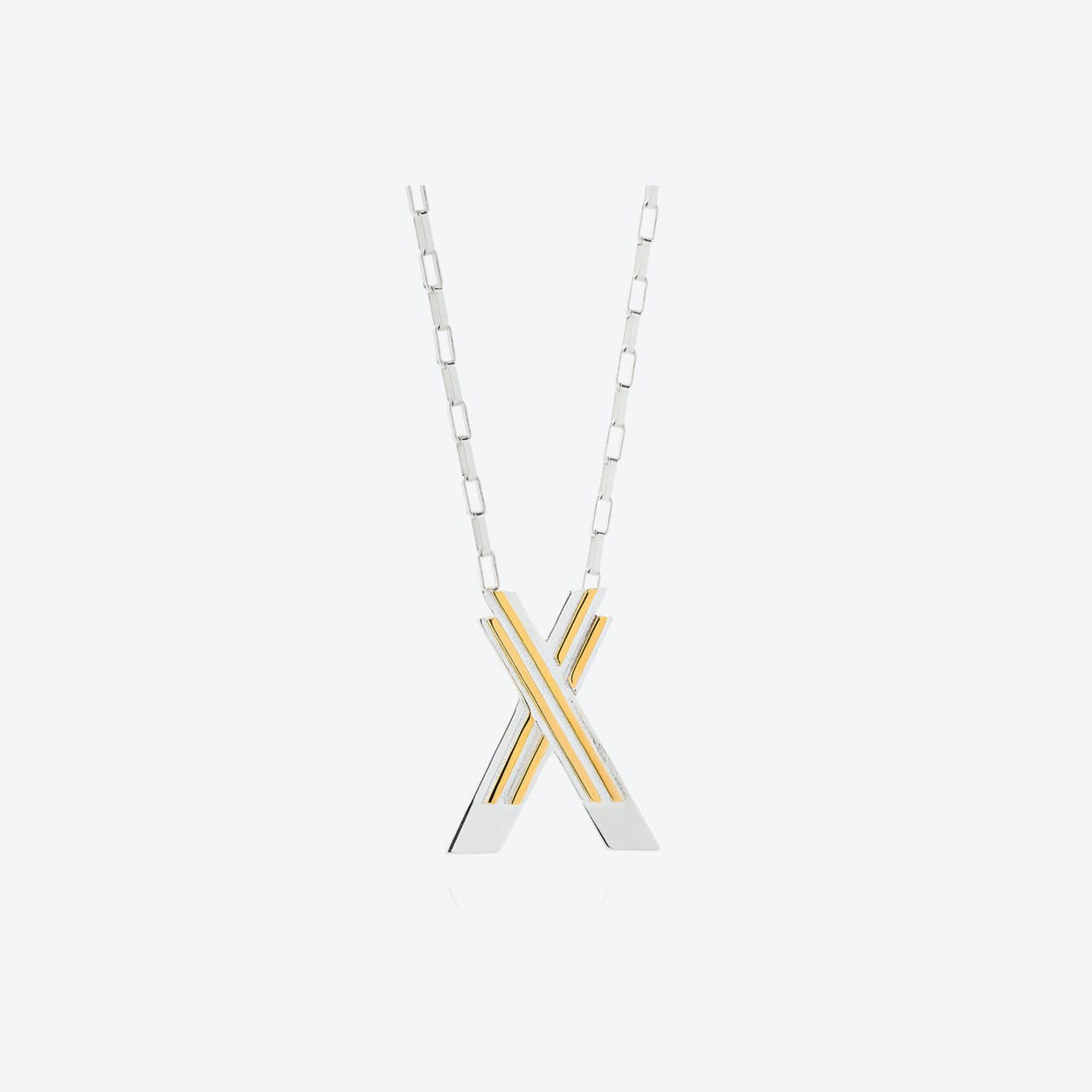 Saxony X Initial Necklace