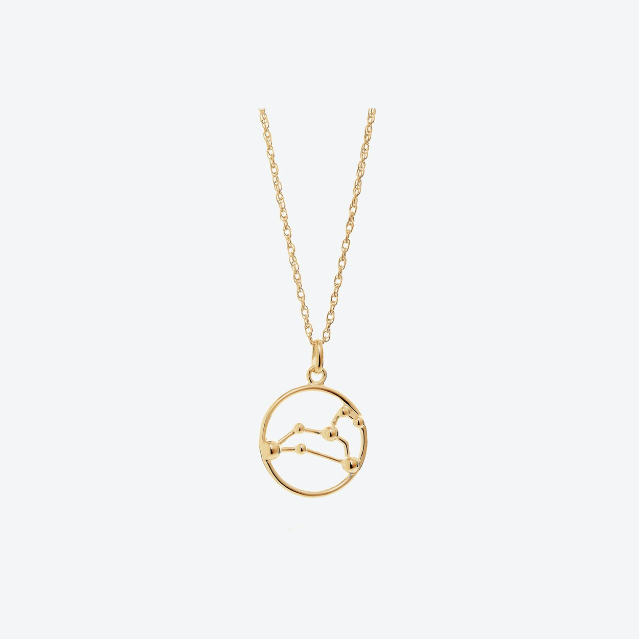 Gold Leo Astrology Necklace By Yasmin Everley Jewellery Fy