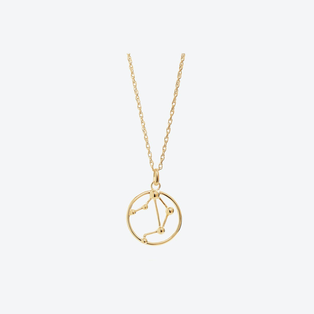 Gold Libra Astrology Necklace By Yasmin Everley Jewellery Fy