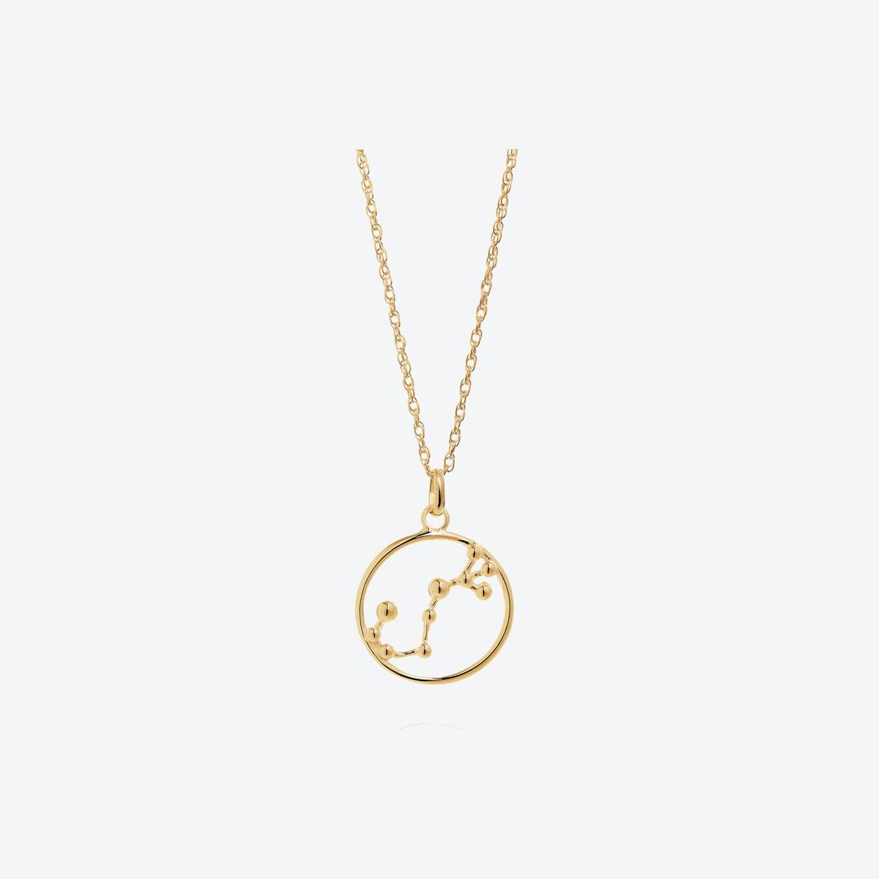 Gold Scorpio Astrology Necklace By Yasmin Everley Jewellery Fy