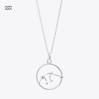 Aquarius Astrology Necklace