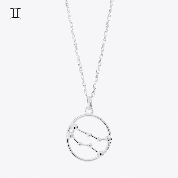 b cubic fine gifts necklaces catcher silver necklace pendant gemini sterling zirconia jewellery dp