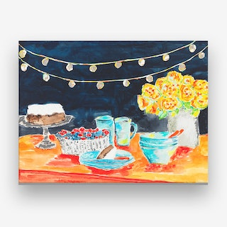 Night Party Canvas Print