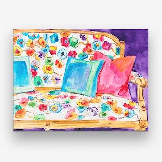 Poppy Settee Canvas Print